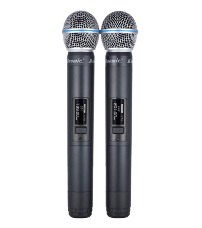 Ammoon Baomic Digital Wireless Handheld Microphone System 2 Microphones & 1 Receiver for Karaoke Family Party Performance Presentation Public Address - Quality & Original From USA - RivPage.Com