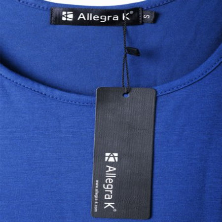Unique Bargains Women's Fashional Royalblue Color Stretchy Loose Top Shirt XS- RivPage.Com-Kenya