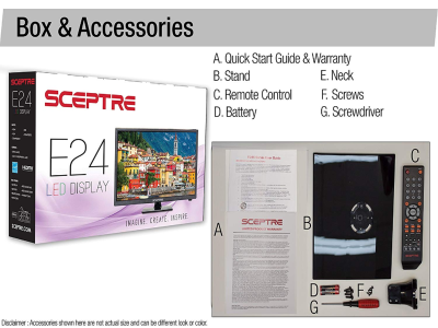 "Sceptre E249BV-SR 720p LED TV, 24"" – Quality & Original Product All From USA - RivPage.Com"