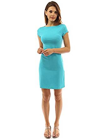 PattyBoutik Women's Boat Neck Cap Sleeve Dress shoulder to cuff hem-RivPage.Com-Kenya