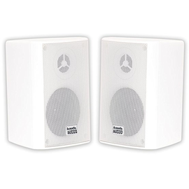 Acoustic Audio AA351B Indoor Outdoor 2 Way Black Speakers 1000 Watt 2 Pair Pack AA351B-2Pr