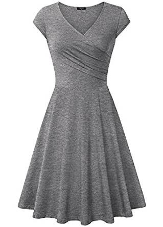 Laksmi Elegant Dresses, Womens Casual Dress A Line Cap Sleeve V Neck RivPage.Com-Kenya