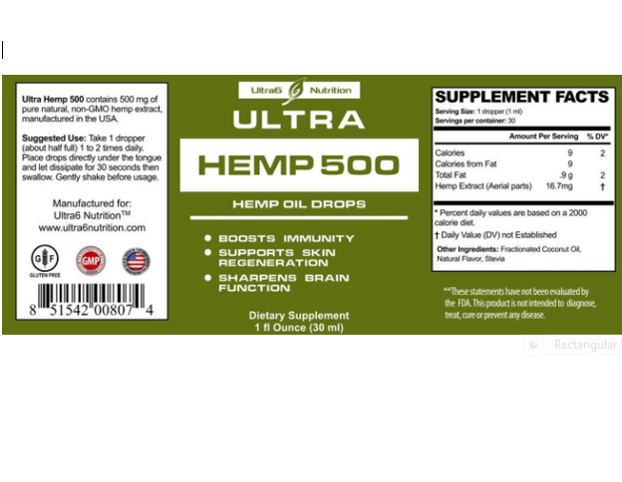 Ultra Hemp 500 Hemp Extract with 500 mg helps with Anxiety, Chronic Pain, Sleep, Mood, Skin and Hair utilizing liquid Hemp Extract oil drops-RivPage.Com - Kenya