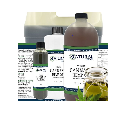 Hemp Oil Virgin, Cold-Pressed_100% Pure_No Fillers or Additives, Therapeutic Grade (NEW LOOK-SAME AMAZING PRODUCT) (16 Ounce) - RivPage.Com-Kenya