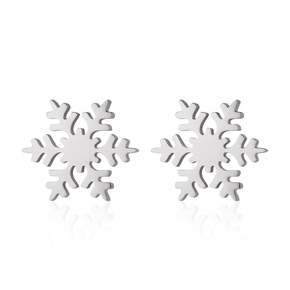 Snowflake Stud Earrings, jewelry - Whaleycorn.com