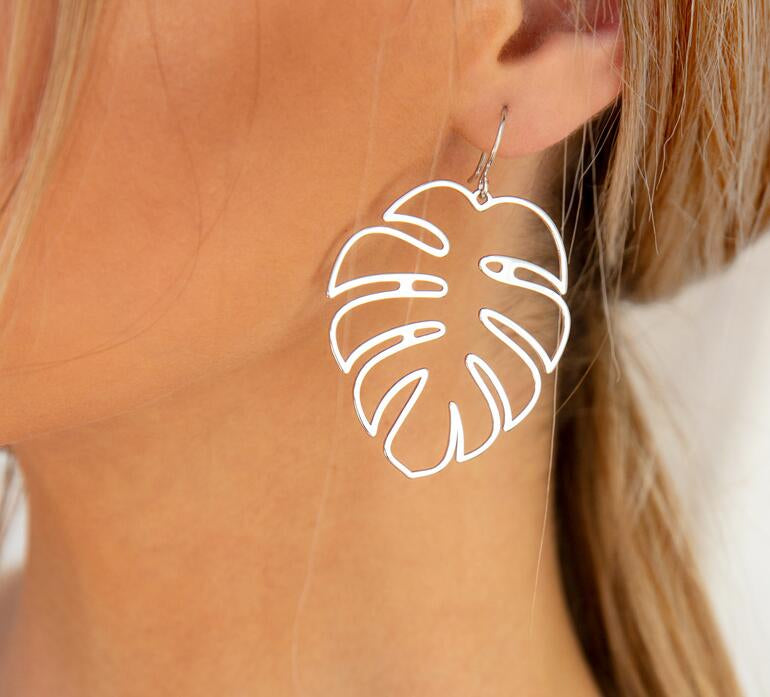 Tropical Leaf Earrings - Whaleycorn.com
