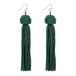 Green Tassel Earrings,  - Whaleycorn.com