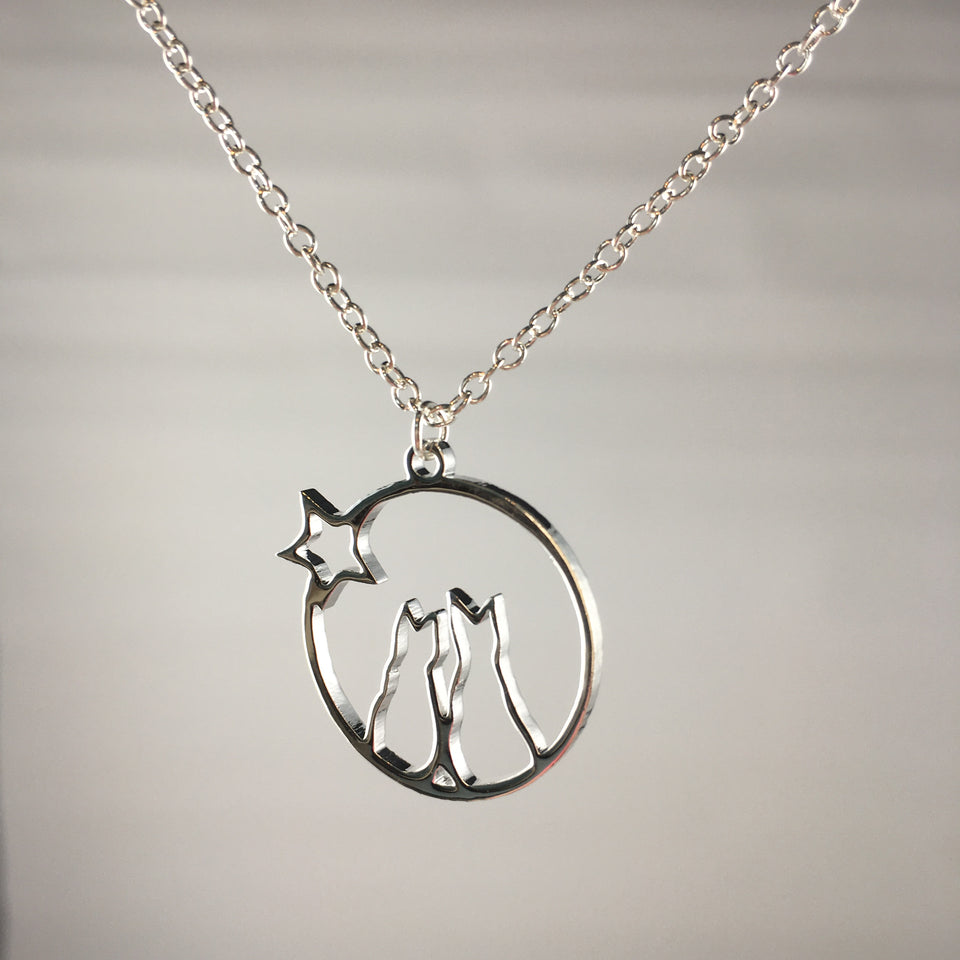 Cat Necklace Pendant (Two cats),  - Whaleycorn.com