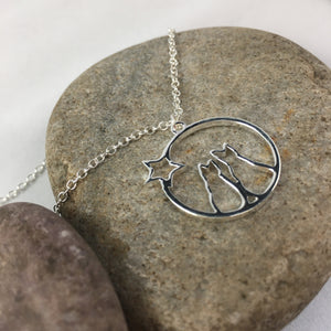 Love Cats Necklace Pendant,  - Whaleycorn.com