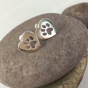 Paw Print Stud Earrings,  - Whaleycorn.com
