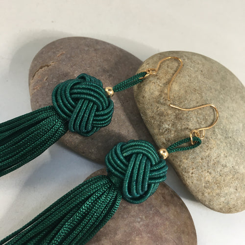 Green Tassel Earrings - Whaleycorn.com