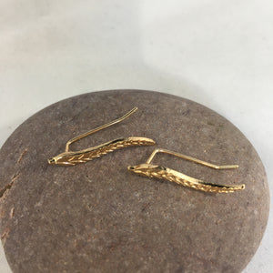 Leaf Spike Earrings