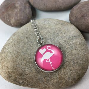 Flamingo Pendant Necklace - Whaleycorn.com