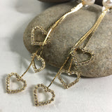 Heart Dangle Earrings - Whaleycorn.com