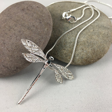 Dragonfly Pendant Necklace (Long) - Whaleycorn.com