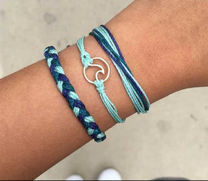 Blue Friendship Bracelets Set, jewelry - Whaleycorn.com
