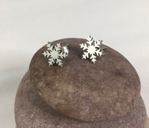 Snowflake Stud Earrings,  - Whaleycorn.com