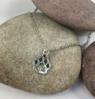 Paw Print Necklace,  - Whaleycorn.com