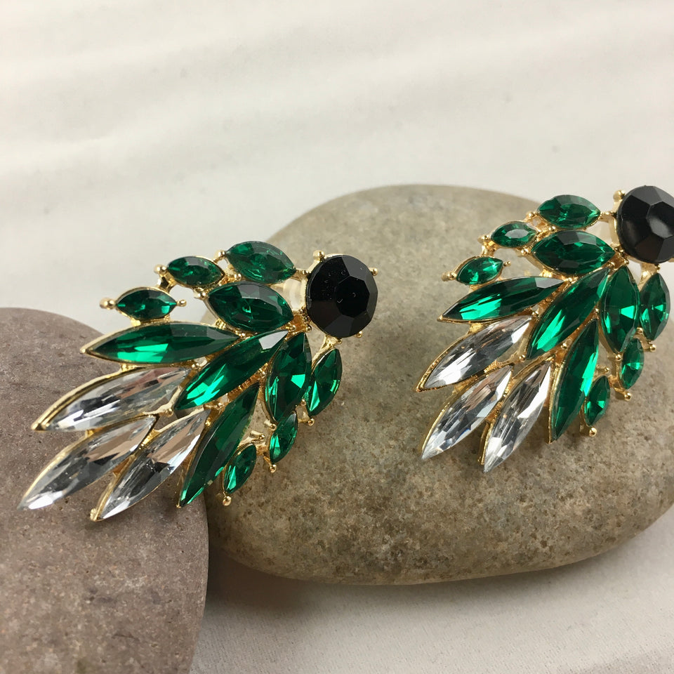 Green Goddess Earrings,  - Whaleycorn.com