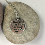 Horse Rider Pendant with inscription - Whaleycorn.com