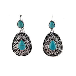 Turquoise Coloured Teardrop Dangles