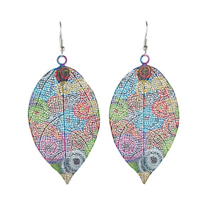 Patterned Leaf Dangles - Whaleycorn.com