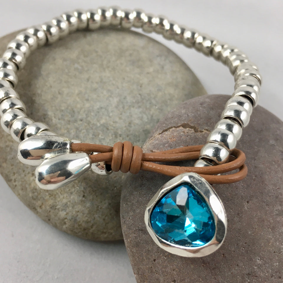 Blue Coloured Stone Bracelet,  - Whaleycorn.com