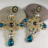 Statement Cross Earrings! Large,  - Whaleycorn.com