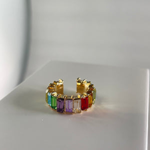 Rainbow Ear Cuff (Large) - Whaleycorn.com
