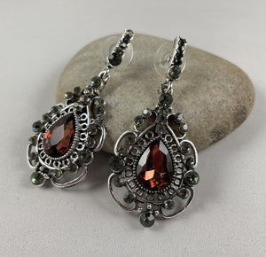 Garnet coloured Stone Dangle Earrings - Whaleycorn.com