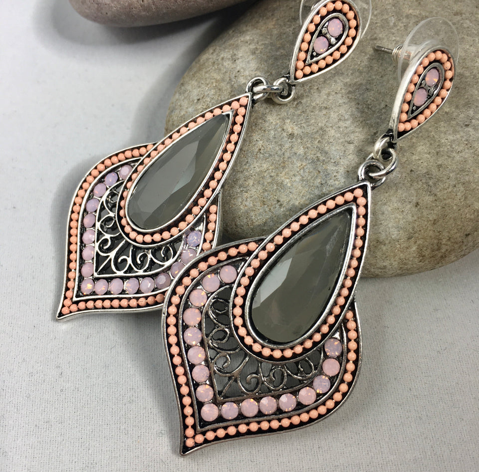 Smoke Stone Earrings,  - Whaleycorn.com