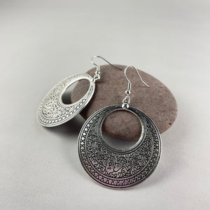 Patterned Circular Dangles - Whaleycorn.com