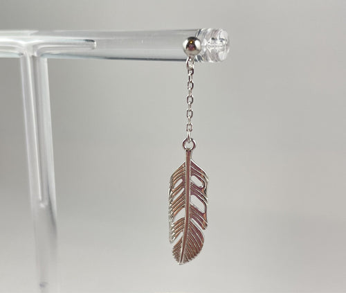 Feather Dangle Earrings (Silver plated) - Whaleycorn.com