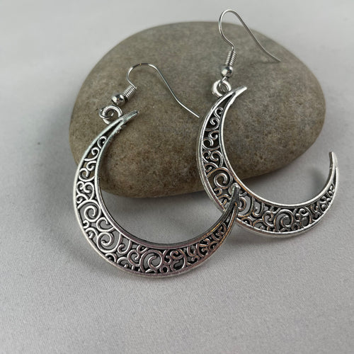 Crescent Moon Dangle Earrings,  - Whaleycorn.com