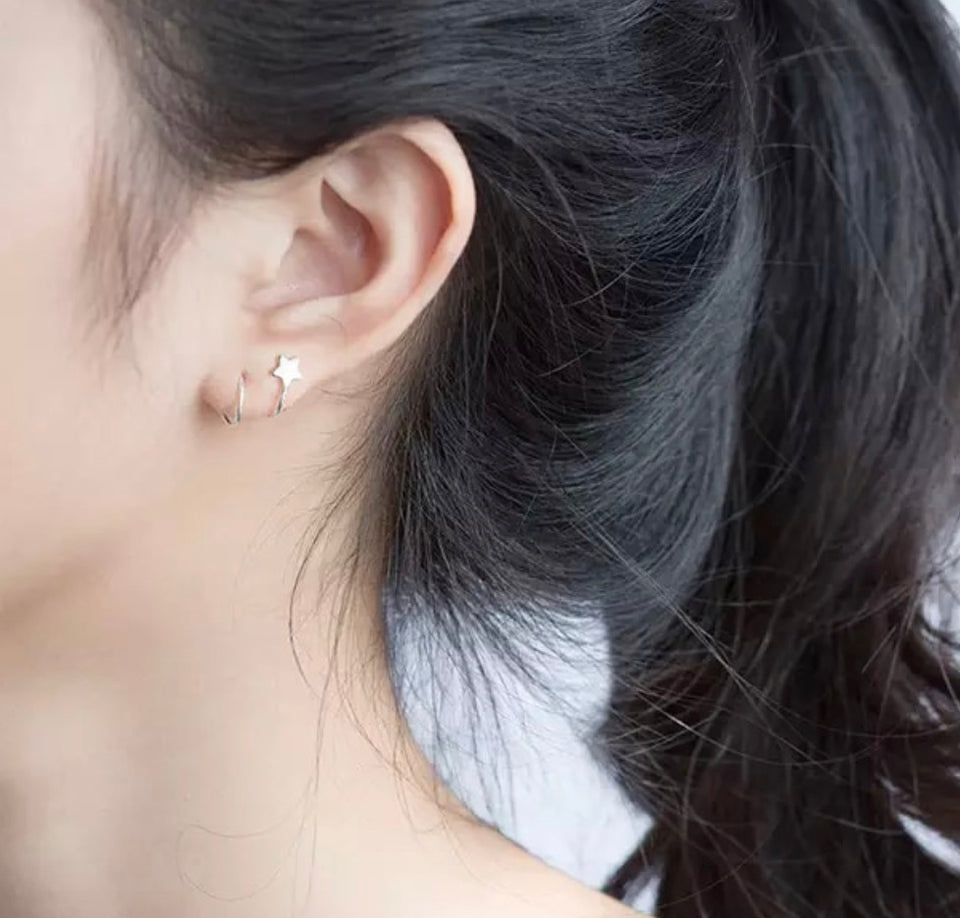 Spiral Silver Plated Earrings - Whaleycorn.com