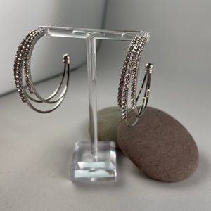 Half Loop Sparkle Earrings,  - Whaleycorn.com