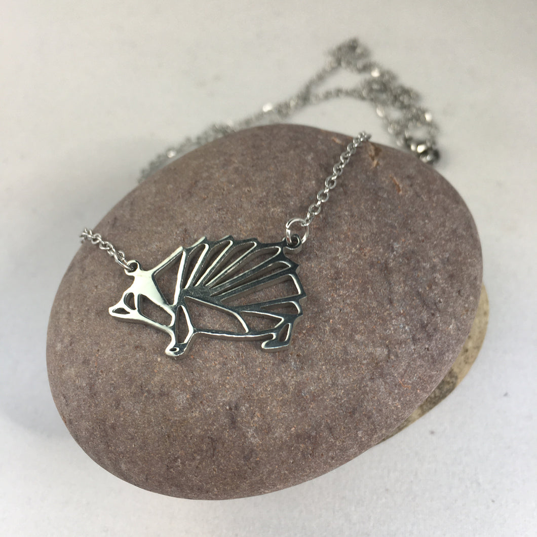 Silver Plated Hedgehog Pendant Necklace,  - Whaleycorn.com