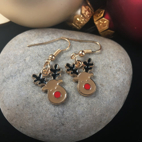 Rudolph Earrings,  - Whaleycorn.com