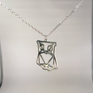 Owl Necklace Silver Plated - Whaleycorn.com