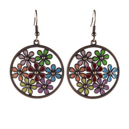 Flower Pattern Earrings - Whaleycorn.com