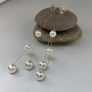 Faux Pearl Drop Earrings - Whaleycorn.com