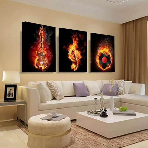 Classic Design Oil Painting Made With Quality Woven Fabric Cloth That Will Increase The Musical Theme Of Your Home