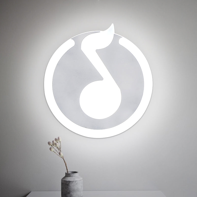 Modern Music Note Led Wall Lamp Artistic Pod