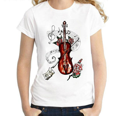 Brown Violin Music Note T-Shirt - Artistic Pod Review