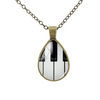 Water Drop Shaped Music Necklace