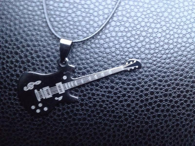 FREE - Fashion Guitar Pendant Stainless Steel - Artistic Pod Review