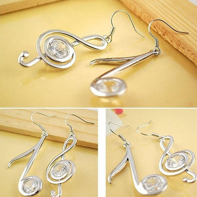 Crystal Musical Note Earrings - Artistic Pod Review