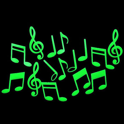 15 pcs Music Notes Glow in the Dark Wall Sticker - Artistic Pod Review