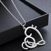 Musical Note Heart Chain Necklace