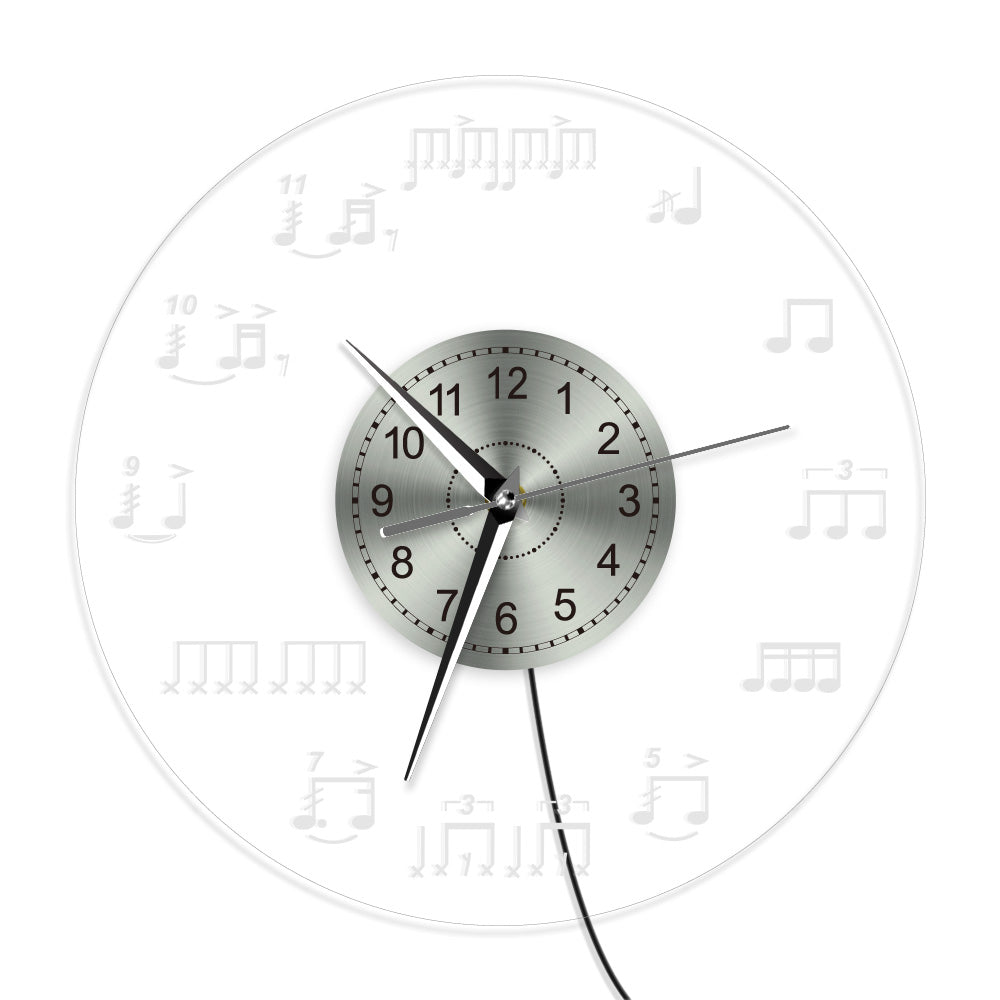 Led light music note wall clock artistic pod led light music note wall clock aloadofball Gallery